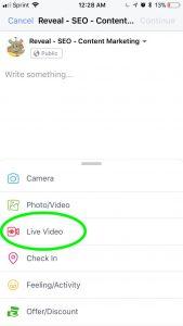 Using Facebook Live