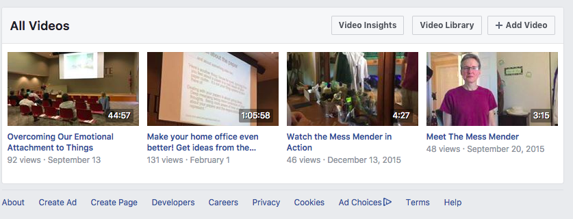 Your Facebook Video Library